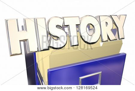 History 3d Illustration Word File Cabinet Archive Documents Old Paperwork