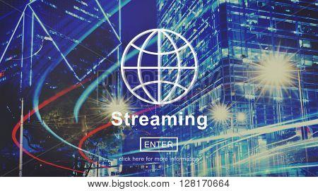 Streaming Internet Media Computer Download Concept