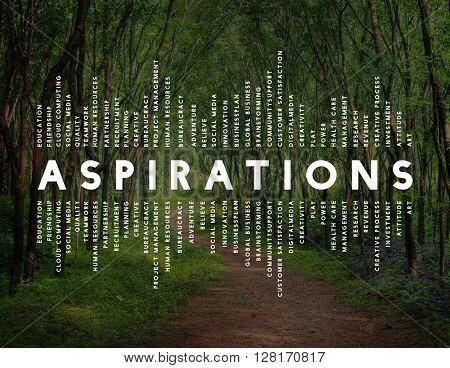 Aspiration Imagination Inspiration Dream Goal Concept