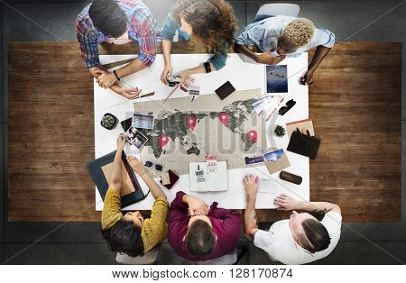 Business Travel Meeting Discussion Team Concept