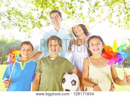 Family Park Childhood Lifestyle Concept