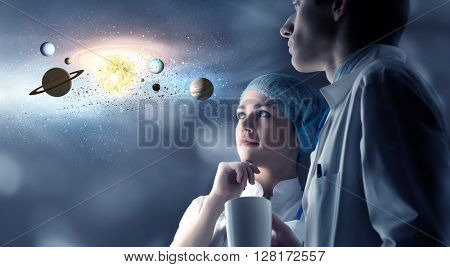 Exploring space planets