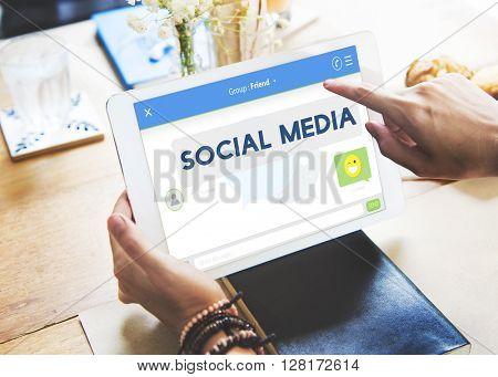 Social Media Stay Connected Concept
