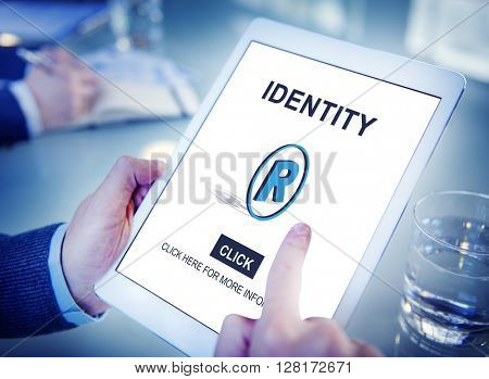 Identity Trademark Copyright Badge Concept