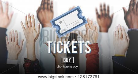 Ticket Coupon Concert Admit Theater Vacation Concept