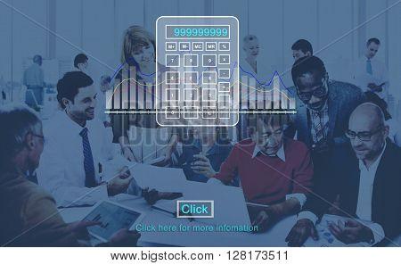 Calculate Calculator Count Finance Math Concept