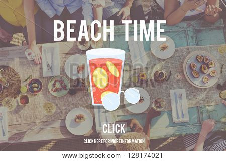 Summer Holiday Beach Escape Happiness Concept