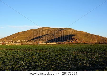Hill landscape at morning in Armenia