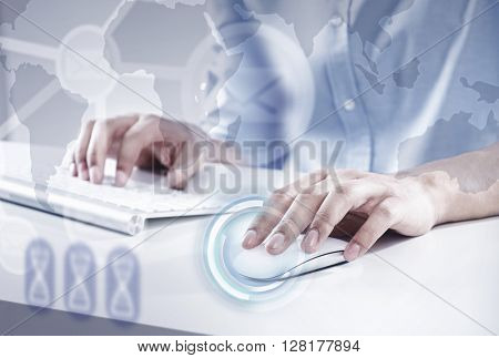 Man surfing the Internet