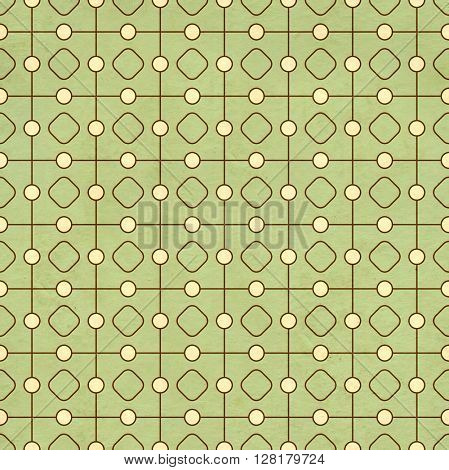 Seamless texture of the old paper with retro geometric ornamental pattern