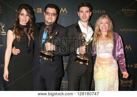 LOS ANGELES - APR 29:  Celeste Fianna, Gregori J Martin, Kristos Andrews, mother at the 43rd Daytime Emmy Creative Awards at the Westin Bonaventure Hotel  on April 29, 2016 in Los Angeles, CA