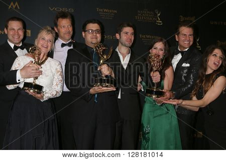 LOS ANGELES - APR 29:  The Bay Producers at the 43rd Daytime Emmy Creative Awards at the Westin Bonaventure Hotel  on April 29, 2016 in Los Angeles, CA