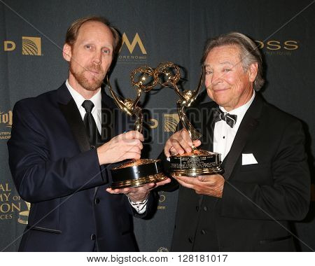 LOS ANGELES - APR 29:  Jeff Bennett, Frank Welker at the 43rd Daytime Emmy Creative Awards at the Westin Bonaventure Hotel  on April 29, 2016 in Los Angeles, CA