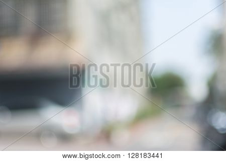 Abstract background of lane in city, shallow depth of focus.