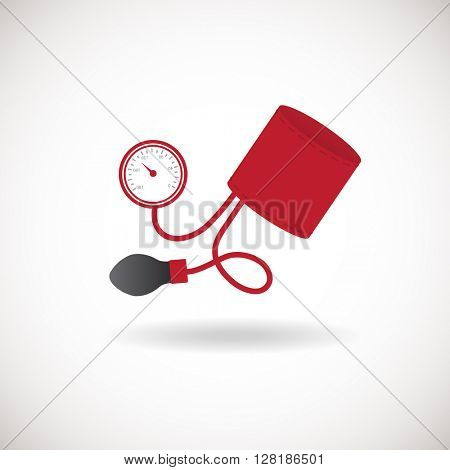 Tonometer Icon. Blood Pressure Checker Icon, Flat design style