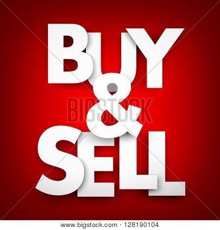 Buy and sell. 3D illustration