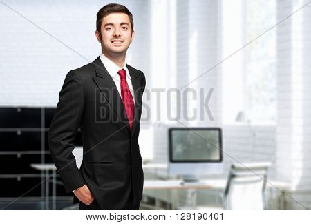 Male manager in the office