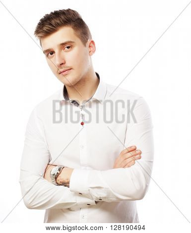 smiling isolated businessman