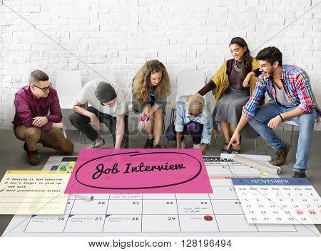 Job Interview Recruitment Human Resources Schedule Concept