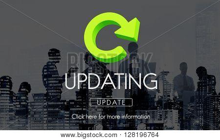 Updating Upgrade New Download Improvement Concept