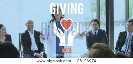 Giving Charity Organization Social Help Concept