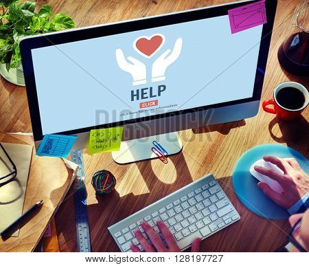 Help Aid Advice Assistance Coaching Helping Concept