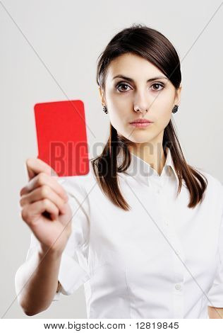 Woman With Red Card