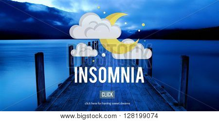 Insomnia Hangover Bad Dreams Depression Concept