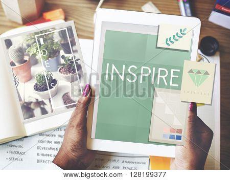 Inspire Aspiration Expectation Imagination Concept