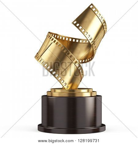 Golden Film Award Movie- 3d render