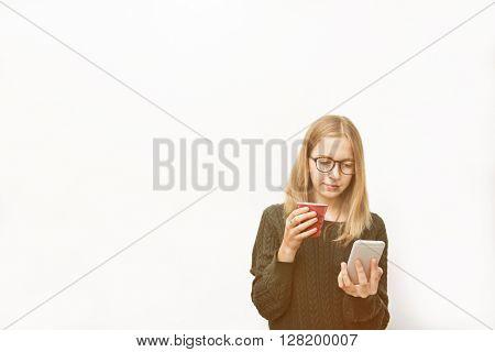 Woman Mobile Phone Connection Communication Concept
