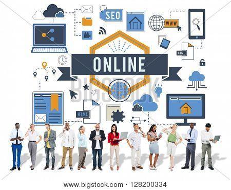 Online Communication Connection Network Internet Concept