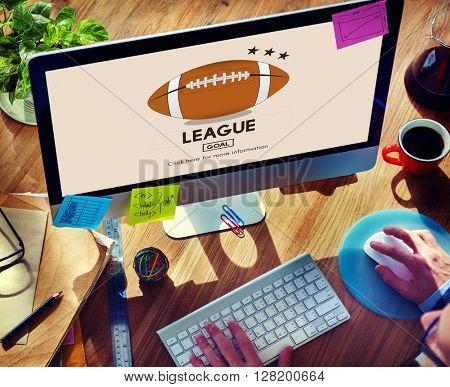 League Champion Competition Field Match Team Concept