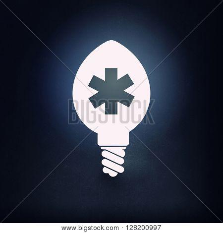 Glowing bulb icon