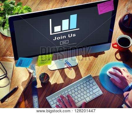 Join us Headhunting Company Hiring Concept