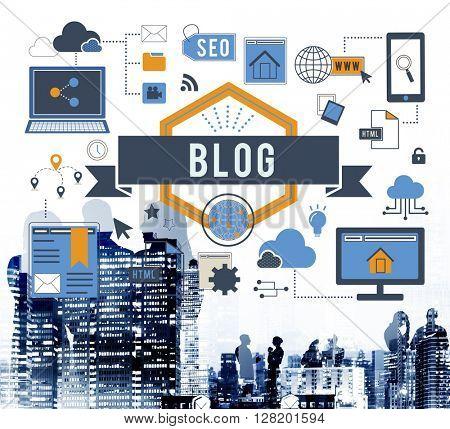 Blog Blogging Website Web Page Concept