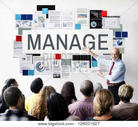 Manage Coordination Leadership Process Strategy Concept
