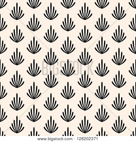 Seamless pattern with branches. Vector illustration