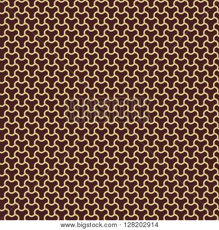 Seamless vector pattern. Modern geometric pattern with repeating elements. Brown and golden pattern