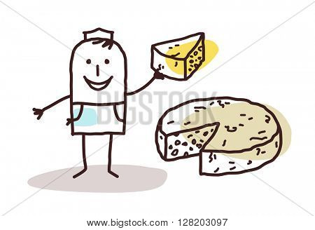 cartoon food retailer - cheese