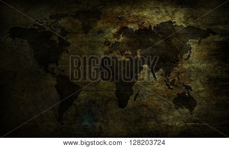 beige and black Map