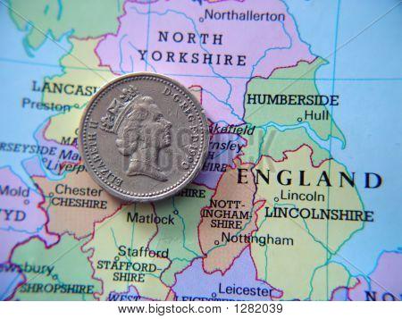 British Pound Coin On Atlas