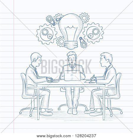 Business team brainstorming.