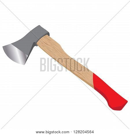 Ax isolated on white background. Felling axe design.