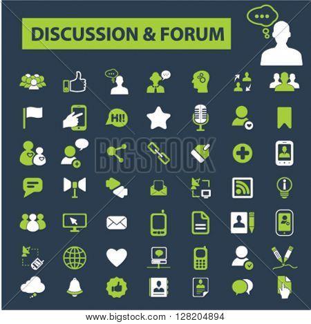 discussion forum icons