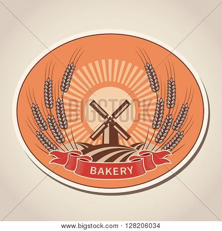 Bakery label. Vector illustration.
