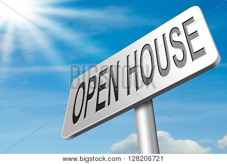 Open house or model house viewing before sale or renting a new home