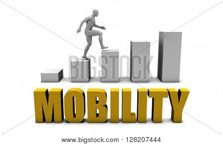 Improve Your Mobility  or Business Process as Concept 3D Illustration Render