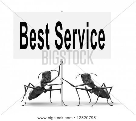 best service 100% customer satisfaction guaranteed road sign billboard