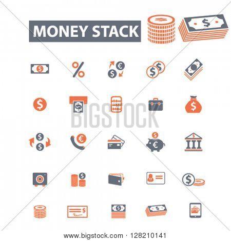 money stack icons